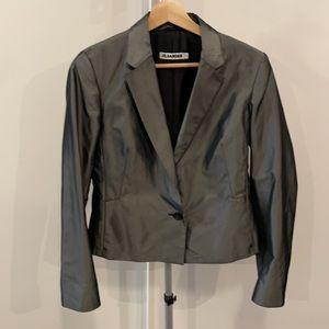 Jil Sander Silk Blend Silver Blazer